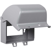 Hubbell TayMac MX3300, One Gang, Horizontal, 8-in-1, In-Use Cover,  Gray