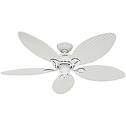 "Hunter Fan Bayview™ 54"" Damp Ceiling Fan 54097 - White"