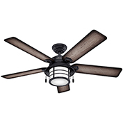 "Hunter Fan Key Biscayne 54"" Damp Ceiling Fan 59135 - Weathered Zinc"