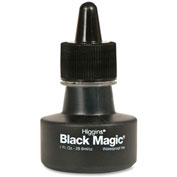 Higgins Black Magic Waterproof Drafting Ink, 1 oz Bottle