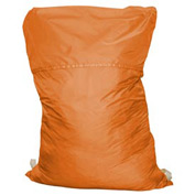 "18"" Ropeless Hamper Bag, Nylon, Orange, Straight Bottom - Pkg Qty 12"