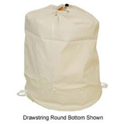 "18"" Ropeless Hamper Bag, Cotton Duck, Natural, Round Bottom - Pkg Qty 12"