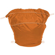 "18"" Ropeless Hamper Bag, Nylon, Orange, Round Bottom - Pkg Qty 12"