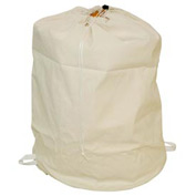 "18"" Drawcord Laundry Bag, Cotton Duck, Natural, Round Bottom - Pkg Qty 12"