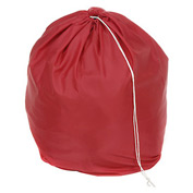 "18"" Drawcord Laundry Bag, Nylon, Red, Round Bottom - Pkg Qty 12"
