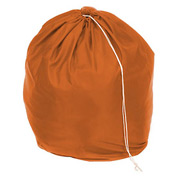 "18"" Drawcord Laundry Bag, Nylon, Orange, Round Bottom - Pkg Qty 12"