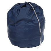 "27"" Drawcord Laundry Bag, Nylon, Blue, Round Bottom - Pkg Qty 12"