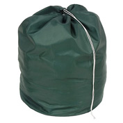 "27"" Drawcord Laundry Bag, Nylon, Green, Round Bottom - Pkg Qty 12"