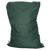 "25"" Ropeless Hamper Bag, Nylon, Green, Straight Bottom - Pkg Qty 12"