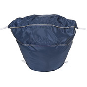"27"" Ropeless Hamper Bag, Nylon, Blue, Round Bottom - Pkg Qty 12"