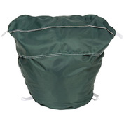 "27"" Ropeless Hamper Bag, Nylon, Green, Round Bottom - Pkg Qty 12"