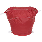 "27"" Ropeless Hamper Bag, Nylon, Red, Round Bottom - Pkg Qty 12"