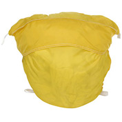 "27"" Ropeless Hamper Bag, Nylon, Yellow, Round Bottom - Pkg Qty 12"