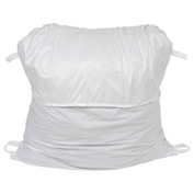"27"" Ropeless Hamper Bag, Nylon, White, Round Bottom - Pkg Qty 12"