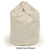 "25"" Drawcord Hamper Bag W/ 10 Grommets, Cotton Duck, Natural - Pkg Qty 12"