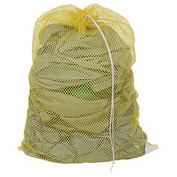 Mesh Bag W/ Drawstring Closure, Yellow, 18x30, Heavy Weight - Pkg Qty 12