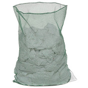 Mesh Bag W/Out Closure, Green, 30x40, Heavy Weight - Pkg Qty 12