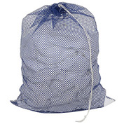 Mesh Bag W/ Drawstring Closure, Blue, 30x40, Heavy Weight - Pkg Qty 12