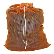 Mesh Bag W/ Drawstring Closure, Orange, 30x40, Heavy Weight - Pkg Qty 12