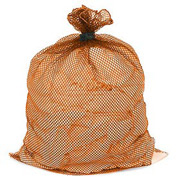 Mesh Bag W/ Dual Grip Rubber Closure, Orange, 18x24, Medium Weight - Pkg Qty 12