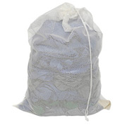Mesh Bag W/ Drawstring Closure, White, 18x30, Medium Weight - Pkg Qty 12