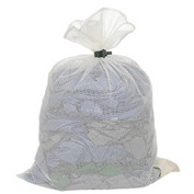 Mesh Bag W/ Dual Grip Rubber Closure, White, 18x30, Medium Weight - Pkg Qty 12
