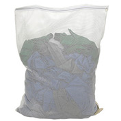 Mesh Bag W/ Nylon Zipper Closure, White, 18x30, Medium Weight - Pkg Qty 12