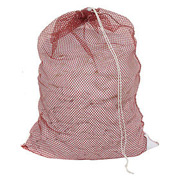 Mesh Bag W/ Drawstring Closure, Red, 24x36, Medium Weight - Pkg Qty 12