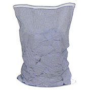 Mesh Bag W/ Nylon Zipper Closure, Blue, 24x36, Medium Weight - Pkg Qty 12