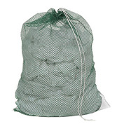 Mesh Bag W/ Drawstring Closure, Green, 30x40, Medium Weight - Pkg Qty 12