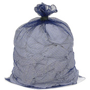 Mesh Bag W/ Dual Grip Rubber Closure, Blue, 30x40, Medium Weight - Pkg Qty 12