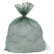 Mesh Bag W/ Dual Grip Rubber Closure, Green, 30x40, Medium Weight - Pkg Qty 12
