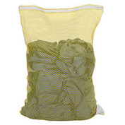 Mesh Bag W/ Nylon Zipper Closure, Yellow, 30x40, Medium Weight - Pkg Qty 12