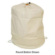"15"" Drawcord Bag, Cotton Duck, Natural, Straight Bottom - Pkg Qty 12"