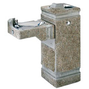 "Haws ""Hi-Lo"" Barrier-Free Concrete Pedestal Outdoor Drinking Fountain"