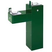 "Haws ""Hi-Lo"" ADA 2 Bubbler Galvanized Steel Pedestal Outdoor Drinking Fountain"