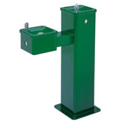"Haws Streetsmart ""Hi-Lo"" Vandal-Resistant SS Pedestal Outdoor Drinking Fountain"