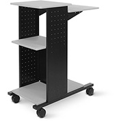 "Luxor Open Shelf Presentation Station, 18""W x 34-1/4""D x 40""H, Gray"