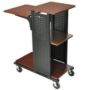 Open Shelf Boardroom Station No Electrical 18-1/4x34-1/2x41 Cherry