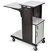 "Luxor Heavy Duty Presentation Station with Cabinet, 18-1/4""W x 34-1/2""D x 41""H, Gray"