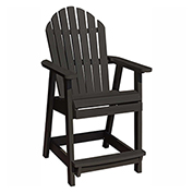 highwood® Hamilton Counter Deck Chair, Black