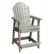 highwood® Hamilton Counter Deck Chair, Coastal Teak