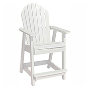 highwood® Hamilton Counter Deck Chair, White
