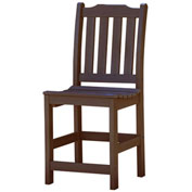Highwood® Synthetic Wood Lehigh Counter Height Dining Chair With No Arms, Weathered Acorn