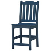 Highwood® Synthetic Wood Lehigh Counter Height Dining Chair With No Arms, Nantucket Blue