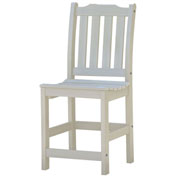 Highwood® Synthetic Wood Lehigh Counter Height Dining Chair With No Arms, Whitewash