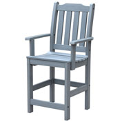 Highwood® Synthetic Wood Lehigh Counter Height Dining Chair With Arms, Coastal Teak