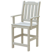 Highwood® Synthetic Wood Lehigh Counter Height Dining Chair With Arms, Whitewash