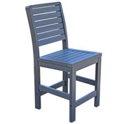 Highwood® Synthetic Wood Weatherly Counter Height Dining Chair With No Arms, Coastal Teak