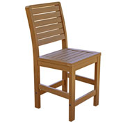 Highwood® Synthetic Wood Weatherly Counter Height Dining Chair With No Arms, Toffee